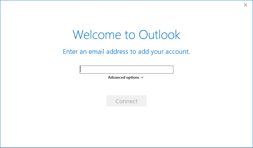 Outlook Add new account